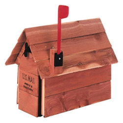 "SOLAR GROUP - MAILBOX CEDAR CHALET CEDAR - Standard size galvanized steel mailboxes housed in aromatic red cedar. Plastic flag kit is included. The wood weathers naturally over time, unless treated occasionally with a standard wood or deck sealer. Size: 12"" x 22.25"" x 13.25"".            Finish=Cedar  This item cannot be shipped to APO/FPO addresses.  Please accept our apologies"