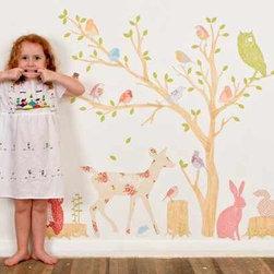 Mae Wall Decals Girly Woodland Scene - Wall Decals Woodland - Discount set - Girly Woodland Scene