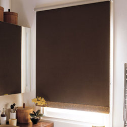 Suede Roller Shade - Suede Fabric Roller Shade. P&D Window Fashions Exclusive