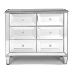 Silver Mirrored Chest - Add a mirrored chest as a side table in your bedroom or anywhere you'd like a lighter feel.