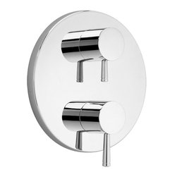 American Standard - Amrican Standard T064.740.002 Standard T064740 Serin Valve Trim Kit, Chrome - Amrican Standard T064.740.002 Standard T064740 Serin two handle Thermostatic Valve Trim Kit,  Chrome. This Valve Trim Kit features  two metal knob handles and a Metal wall escutcheon. Fits R520 or R540 Thermostatic rough shower valves