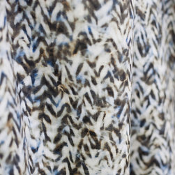 Chevron Upholstery Fabric, Blue + Tan, Yard - 1 YARD MINIMUM ORDER