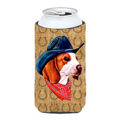 Caroline's Treasures - Beagle Dog Country Lucky Horseshoe Tall Boy Koozie Hugger - Beagle Dog Country Lucky Horseshoe Tall Boy Koozie Hugger Fits 22 oz. to 24 oz. cans or pint bottles. Great collapsible koozie for Energy Drinks or large Iced Tea beverages. Great to keep track of your beverage and add a bit of flair to a gathering. Match with one of the insulated coolers or coasters for a nice gift pack. Wash the hugger in your dishwasher or clothes washer. Design will not come off.
