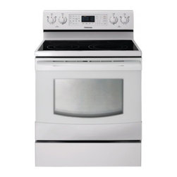 """Samsung - NE595R0ABWW 30"""" Freestanding Electric Range With 5 Burners  5.9 Cu. Ft.  Self-Cl - The Samsung Appliance NE595R0AB 59 Cu Ft capacity oven is one of the largest on the market and is spacious enough to fit that holiday meal you may be planning With the SteamQuick rapid steam cleaning cleaning is fast easy and energy efficient that re..."""
