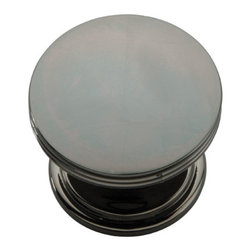 Hickory Hardware - Hickory Hardware 1-3/8 In. American Diner Black Nickel Cabinet Knob - Often characterized with clean, sleek lines.  Marked with solid colors, predominantly muted neutrals or bold bunches of color.  An emphasis on basic shapes and forms.