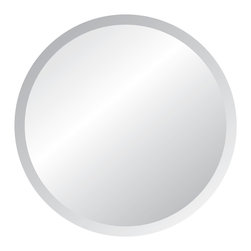 "Spancraft - Round Frameless Contemporary Wall Mirror, 36"" - The Round Frameless Wall Mirror is one of the most popular shape mirrors and one of our best sellers.  These mirrors are versatile and work well with any decor & color scheme.  A room can be easily transformed by using mirrors to open up the space using reflection and light.  Round Unframed wall mirrors are available in various sizes, 18"", 24"", 30"", 36"" and 42"" round, and work well in the bedroom, bathroom, living room and even in the entry way."