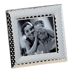 Godinger Silver - 5x5 Sphere Frame - Complement any decor with this silver-plated frame and it will showcase your photo beautifully. These picture frames make an elegant statement as wedding place card holders, that your guests will love to take home. A delightful way to display place cards, table numbers or photographs. Makes a perfect party favor for any occasion.    Dimensions: 7x7 inches.