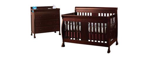 Da Vinci - DaVinci Porter 4-in-1 convertible Crib Crib and 3-drawer Changer in Cherry Inclu - Da Vinci - Baby Crib Sets - M8501CM8555Cpkg -