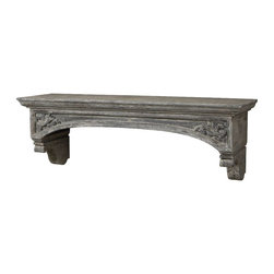Uttermost - Gold Stunning Unique European - Style Wood Mantel Hand Carved Home Decor - Gold stunning and unique European-style wood mantel hand carved details home accent decor