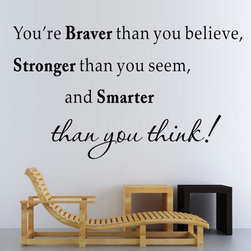 ColorfulHall Co., LTD - Wall Decals For Nursery You'Re Braver Than You Believe Stronger Than You Seem - Wall Decals for Nursery You're Braver Than You Believe Stronger Than You Seem