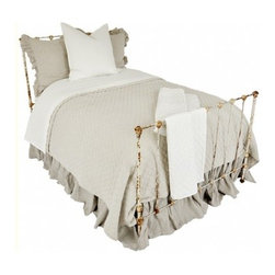 """Pom Pom at Home Hampton Coverlet - A timeless classic, the Hampton is a luxurious diamond quilted coverlet. It is finished with a ½"""" flange and straight corners."""