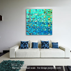 Modern Abstract Mosaic Tile Paintings - Tile Art #8, 2013. Copyright ©2013 by Mark Lawrence. All Rights Reserved.