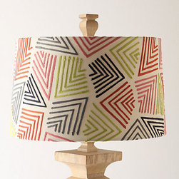 Continual Carets Shade, Large - The chevron pattern is very popular right now, but there is something so original about these embroidered chevrons. The shade feels tribal, like ancient artwork.