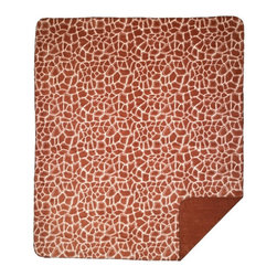 Throw Blanket Denali Giraffe/Spice - Denali micro plush throws are considered the Cadillac of throws due to their rich colors and soft feel. These throws are softer and warmer than fleece.