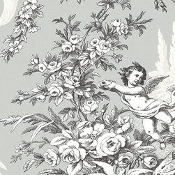 Large Scale Traditional Cherub - BW28704 - Collection:Norwall Black & White 2