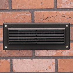 Kichler - 15773AZT Louver Kichler LED Brick Light Bronze Finish - Call for best prices. Here's our low price guarantee.