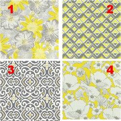 Custom Lampshade - Vanity - Shades of Gray - Lampshade - Fabric Collection -