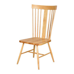 High-Back Ash Chair - Pull this unique craftsman chair up to the table, and enjoy many happy meals together. Made with solid American ash wood, it's a sturdy, stylish take on a classic dining chair.