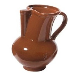 Alegria Collection Ceramic Sangria Pitcher, 9.5'' Tall - Our rustic sangría pitcher is the perfect serving piece for this classic Spanish drink.