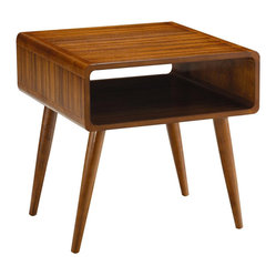 Boraam - Boraam Zebra Alborg End Table in Rich Walnut - Boraam - End Tables - 33511 - Features: