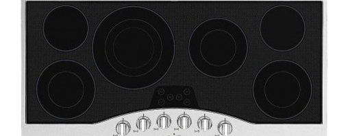 "Viking - RVEC3456B 45"" Wide 6 Element Built-In Electric Radiant Cooktop with QuickCook Su - Viking39s Built-In Electric Cooktop is a powerful cooktop with a wide variety of surface elements to offer professional grade cooking power Our cooktops are easy to clean thanks to the strong wear resistant glass ceramic top"