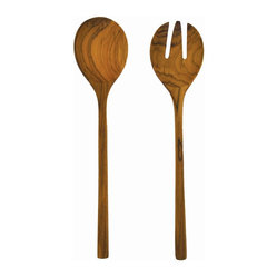 Teak Large Salad Set