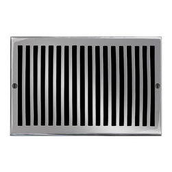 """Brass Elegans [116G PWT] Brass Decorative Air Return Vent Cover - Contemporary - - This pewter finish solid brass air return vent cover with a contemporary design fits 6"""" x 10"""" duct openings and adds the perfect accent to your home decor."""
