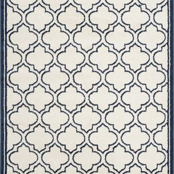 Safavieh - Safavieh Amherst AMT412M 8' x 10' Ivory, Navy Rug - Safavieh's Amherst collection is inspired by timeless contemporary designs. Crafted using a power-loomed construction with a polypropylene pile, the Amherst is perfect for indoor and outdoor use.