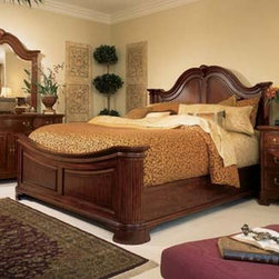 American Drew 791-316R Cherry Grove Mansion Bed 6/6 - 791-316R Mansion Bed 6/6 from Cherry Grove by American DrewW82 H65Wt. 374 Cubes 62.6Consists Of:*316 MANSION HEADBOARD 6/6W82 D8 H65Wt. 177 Cubes 36.0HEADBOARD CAN NOT BE SOLD SEPERATELY*317 MANSION FOOTBOARD 6/6W82 D8 H30Wt. 114 Cubes 17.8*R46 WOODEN RAILS 5/0-6/6W78 D16 H1Wt. 60 Cubes 8.4*SK1 MATTRESS SUPPORT SYSTEMWt. 23 Cubes 0.4