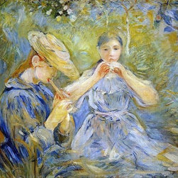 """Berthe Morisot The Flageolet - 16"""" x 24"""" Premium Archival Print - 16"""" x 24"""" Berthe Morisot The Flageolet premium archival print reproduced to meet museum quality standards. Our museum quality archival prints are produced using high-precision print technology for a more accurate reproduction printed on high quality, heavyweight matte presentation paper with fade-resistant, archival inks. Our progressive business model allows us to offer works of art to you at the best wholesale pricing, significantly less than art gallery prices, affordable to all. This line of artwork is produced with extra white border space (if you choose to have it framed, for your framer to work with to frame properly or utilize a larger mat and/or frame).  We present a comprehensive collection of exceptional art reproductions byBerthe Morisot."""