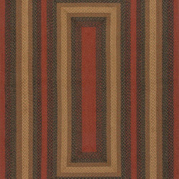 """Hudson Jute Braided Rugs HBR08 Rug - 2'3""""x3'9""""Oval - These braided jute rugs are both durable and rich in color and style."""