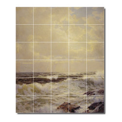 Picture-Tiles, LLC - The South Shore Newport Tile Mural By William Richards - * MURAL SIZE: 72x60 inch tile mural using (30) 12x12 ceramic tiles-satin finish.