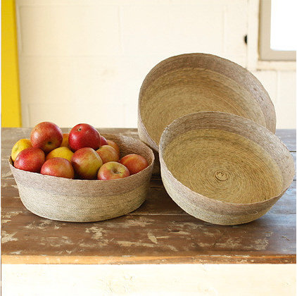 contemporary baskets by canvas