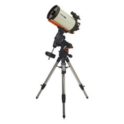 "Celestron CGEM 9.25 Inch Edge HD Optics Telescope - The Celestron CGEM 925 HD combines Celestron's newly designed CGEM Computerized Equatorial mount with its new EdgeHD optical system. With over 9 inches of aperture and our premium StarBright XLT coatings the CGE Pro 925 HD gives you over 1000 times the light gathering power than the unaided eye. Designed to give difraction limited performace the CGEM 925 HD has established itself as a premier astro-imaging telescope. New Optical Design The EdgeHD optical system combines all the compact power popularized by the SCT and combines it with an improved high definition optical system for wide field astrograph quality images. As a visual instrument EdgeHD optics delivers pinpoint images even with your widest field eyepiece. You can search for all of the Messier Catalog objects and see hundreds of other equally interesting NGC IC and Caldwell objects with amazing clarity. For astroimaging the EdgeHD optics produce aberration-free images across your favorite CCD or DSLR camera. All EdgeHD optics are designed to produce an extremely flat focal plane precise enough to match the strict tolerances of the largest commercial ccd detectors allowing all stars to be in tight focus to the very edge of the chip. Diffraction Limited Some companies boast that their telescopes give diffraction limited stars in the very center of the field of view. EdgeHD optics not only produce diffraction limited stars on axis but maintain diffraction limited stars across the entire field of view of many of the most popular astrophotography cameras. Even at the very edge of a DX format camera chip the EdgeHD 9.25"""" delivers star sizes of only 1 arc second. Along with the newly designed optics the EdgeHD also has re-designed mechanics guaranteed to help you get the maximum performance from your instrument. Features Include: Mirror Locks – To hold the mirror in place and reduce image shift during imaging. Tube Vents - Each vent has an integrated 60 micron micro-mesh filter allowing hot air to be released from behind the primary mirror Fastar Versatility – All EdgeHD optical tubes are equipped with a removable secondary mirror for fast f/2 ccd imaging. Not only does imaging in the FASTAR configuration allow for exposure times that are 25 times faster than at f/10 but also yields a field of view five times wider. A perfect combination for imaging your favorite wide field objects in a fraction of the time. (FASTAR imaging requires a third party lens assembly in place of the secondary mirror). CGEM™ Mount The CGEM™ mount has a fresh attractive bold appearance and is capable of carrying Celestron's higher-end SCT optical tubes (up to 11"""") securely and vibration free which is ideal for both imaging and visual observing. Ergonomic Design - CGEM was designed to be ergonomically friendly with large Altitude and Azimuth adjustment knobs for quick and easy polar alignment adjustment. The internal RA and DEC motor wiring provides a clean look and an easy and trouble free set up. Innovation - The CGEM series has a new innovative Polar alignment procedure called All-Star™ (patent pending). All-Star allows users to choose any bright star while the software calculates and assists with polar alignment. Another great feature of the CGEM sure to please astroimagers is the Permanent Periodic Error Correction (PEC) which allows users to train out the worm gears periodic errors while the mount retains the PEC recordings. Performance - For objects near the Meridian (imaginary line passing from North to South) the CGEM will track well past the Meridian for uninterrupted imaging through the most ideal part of the sky. The CGEM mount has a robust database with over 40 000 objects 100 user defined programmable objects and enhanced information on over 200 objects. Celestron's CGEM mount is the perfect fit between the Advanced Series and CGE Series. Offering the portability of the Advanced Series and the precision of the CGE. CGEM 9.25 HD - General Features 9.25"""" EdgeHD Optics CGEM Computerized Equatorial Mount Celestron's premium StarBright XLT coatings 9x50 finderscope to help accurately find objects Ultra sturdy 2"""" steel tripod with Accessory Tray Star diagonal provides more comfortable viewing position when observing objects that are high in the sky CGEM 9.25 HD - HD Features New aplanatic Schmidt telescope design produces aberration-free images across a wide field of view Mirror tension locks hold the primary mirror in place and reduce image shift Cooling vents allow hot air to be released from behind the primary mirror Fastar compatible for fast f/2 imaging CGEM 9.25 HD - Computerized Mount Features Proven NexStar computer control technology 40 000 object database with over 100 user-definable objects and expanded information on over 200 objects New """"All-star"""" Polar alignment uses any bright star for a quick and accurate Polar alignment Software Features include: Mount Calibration Database Filter Limits Hibernate five Alignment Procedures Flash upgradeable hand control software and motor control units for downloading product updates over the Internet Custom database lists of all the most famous deep-sky objects by name and catalog number: the most beautiful double triple and quadruple stars; variable star; solar systems; objects and asterisms Permanent programmable periodic error correction (PEC) - corrects for periodic tracking errors inherent to all worm drives Drive Motors - Low Cog DC Servo motor with integrated optical encoders offer smooth quiet operation and long life. The motor armatures are skewed to minimize cogging which is required for low speed tracking. Internal Cable wiring for trouble-free setup and transportation Designated six-pin RJ-12 modular jack ST-4 compatible guide port Autoguide port and auxiliary ports located on the electronic plate for long exposure astrophotography Double-line 16-character Liquid Crystal Display Hand Control with backlit LED buttons for easy operation of goto features RS-232 communication port on hand to control the telescope via a personal computer Includes NexRemote telescope control software for advanced control of your telescope via computer Secure power plug ensures that the Mount's power source is not accidentally disconnected Celestron All-Star Polar Alignment Technology All-Star Polar Alignment TechnologyGerman Equatorial Mounts (GEM) have long since been recognized as the mount of choice for astrophotography. Needing to track in only one axis for long exposures; adjustable counterweights and tube position for perfect balance the GEM has few short comings when it comes to imaging. In order to do long-exposure astro-imaging an equatorially aligned telescope is needed to allow your telescope to properly track the motion of the sky. However accurate tracking still depends on an accurate polar alignment. Even with a visible star very near the North Celestial Pole (NCP) the true celestial pole can be a very elusive place to find without assistance. Now select Celestron mounts can utilize a new innovative Polar alignment procedure called All-Star™. All-Star allows users to choose any bright star while the software calculates and assists with polar alignment. Here's how it works. Once your telescope is aligned with two bright star All-Star allows you to choose any bright star listed in the NexStar hand control to assist in accurately aligning your telescope's mount with the North Celestial Pole. Using the telescope's Sync function the mount is able to point and center a bright star with a high degree of accuracy. Once centered the mount will point the telescope to the exact position that the star should be if the mount were precisely polar aligned. By simply adjusting the mounts altitude and azimuth controls to re-center the star in the center of the eyepiece you are actually moving the mounts polar axis to the exact position of the North Celestial Pole. FAQ Can I use Polaris to polar align my telescope?Since Polaris is very close to the NCP and not very bright it is actually not a recommended star for the """"All-Star"""" method. The advantages of being able to use stars other than Polaris are two fold: Polaris is not always visible. So not only can you use a variety of other stars but they are also brighter and more prominent.The star you choose will be farther away from the NCP thus allowing for greater accuracy when centering the star in your eyepiece. Which stars are best to use for polar aligning?For best results choose a bright alignment star that is near the Meridian preferably close to the celestial equator. Try to avoid stars that are close to the west/east horizon or directly overhead because they can be more difficult to center using the mount's altitude and azimuth controls. Also stars too near the celestial pole are less accurate than those further away. Will I lose my alignment after I polar align?No the mount will retain its alignment but some amount of accuracy may be compromised depending on how much the mount has been moved during polar alignment. Although the telscopes tracking may be very good pointing accuracy may need to be improved especially if you are trying to located small objects on a ccd chip. What are the steps to polar align my telescope using """"All-Star"""" polar alignment? Align the telescope with the sky using the """"Two-Star Alignment"""" method. Select a suitable bright star from the Hand Control's database and slew the telescope to the star. Press the Align button and select Polar Align => Align Mount from the list. The telescope will then re-slew to the alignment star and ask you to center it in the eyepiece in order to """"Sync"""" on the star. The telescope will slew to the position that the star should be if it were accurately polar aligned. Use the mounts altitude and azimuth adjustments to place the star in the center of the eyepiece and press the Align button. Update the telescope's star alignment if necessary."