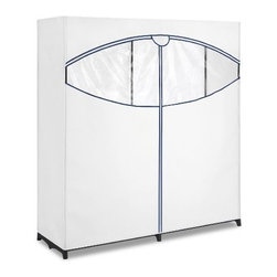 "Whitmor - Extra Wide Clothes Closet 60in - Whitmor 60"" Extra Wide Fabric Clothes Closet - Dimensions: 19.5"" x 60"" x 64"" - Easy no-tool assembly.  Bungee cord tubes.  Breathable fabric cover with easy access zipper and see-through window.  This item cannot be shipped to APO/FPO addresses. Please accept our apologies."