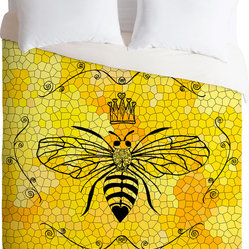 DENY Designs Lisa Argyropoulos Queen Bee Duvet Cover