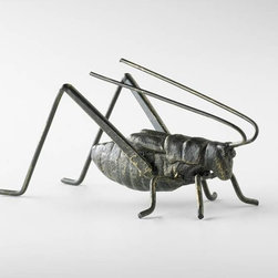 Cyan Design - Cricket Sculpture - Cricket sculpture - raw steel