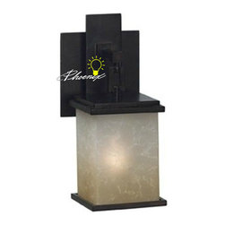 Antique Iron and Marble Wall Sconce in Painted finish -