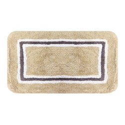None - Aurora Beige 20 x 32 Bath Rug (Set of 2) - Add a luxurious spa feeling to your bathroom with the Aurora beige 2-piece bath rug set. Constructed of plush and soft 100-percent cotton,these rugs are very absorbent and are machine washable for easy care.