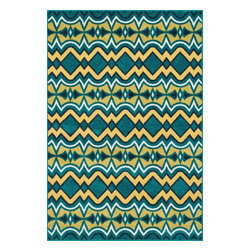 """Loloi Rugs - Catalina Indoor/Outdoor Rug HCATHCF10PXXC - 5'-2"""" X 7'-5"""" - Made of very weather-resilient polypropylene, the Catalina Collection features indoor/outdoor rugs with bold patterns and can t-miss, vibrant colors that look amazing in indoor or outdoor spaces. Each design is power loomed in Egypt and tested withstand UV rays and sunshine."""