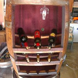 Wine Barrel Wine Rack -