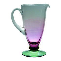 Lavish Shoestring - Consigned Large Cocktail Lavender Glass Jug, Vintage English, circa 1930 - This is a vintage one-of-a-kind item.