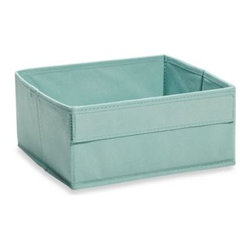Real Simple - Real Simple Shallow Fabric Drawer in Blue - Real Simple  Fabric Drawers are designed for use with all Real Simple Cube Storage Units (sold separately). Half as tall as regular fabric drawers, they can be used to divide a cube opening into two storage areas.