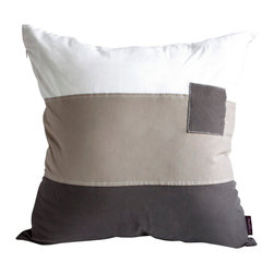 Blancho Bedding - Simple World Knitted Fabric Patch Work Pillow Floor Cushion  19.7 by 19.7'' - Aesthetics and Functionality Combined. Hug and wrap your arms around this stylish decorative pillow measuring 19.7 by 19.7 inches, offering a sense of warmth and comfort to home buddies and outdoors people alike. Find a friend in its team of skilled and creative designers as they seek to use materials only of the highest quality. This art pillow by Onitiva features contemporary design, modern elegance and fine construction. The pillow is made to have invisible zippers, knitted fabric shells and fill-down alternative. The rich look and feel, extraordinary textures and vivid colors of this comfy pillow transforms an ordinary, dull room into an exciting and luxurious place for rest and recreation. Suitable for your living room, bedroom, office and patio. It will surely add a touch of life, variety and magic to any rooms in your home. The pillow has a hidden side zipper to remove the center fill for easy washing of the cover if needed.