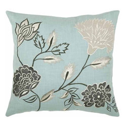 Rizzy Home - Aqua and Gray Decorative Accent Pillows (Set of 2) - T03778 - Set of 2 Pillows.