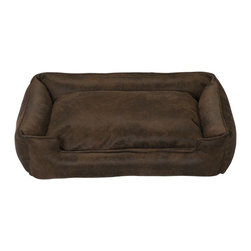 Jax & Bones - Jax & Bones Faux Leather Lounge Bed Cognac X-Large - Jax and Bones faux leather lounge bed is an exclusive collection offering really comfortable and dirt resistant beds which are recommended for dogs that have the tendency to shed their hair a lot. The doggie tested and scratch resistant beds are easy to clean and are ideal for pets who long for warmth and extra reassurance. The softness and extreme durability make these beds great for any kind of dog.