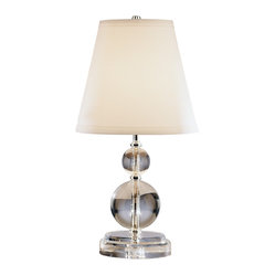 Robert Abbey - Venus and Juno Table Lamp - A beautiful bedroom begins with lighting. It is the accent piece that shows off your room to its best advantage. This lead crystal lamp with silver-plated accents will reflect light to the surrounding room transforming it into a beckoning place to rest your head.