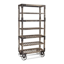 "Bassett Mirror - Foundry Weathered Gray Rack - ""Foundry"" Weathered Gray Rack by Bassett Mirror"