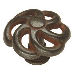 """Hickory Hardware - Charleston Blacksmith Rustic Iron Cabinet Knob, 1 1/2"""" - Refreshing in its simplicity, Rustic style highlights natural beauty and a rugged, resilient spirit. Thanks to the unpretentious roots, organic textures, shapes and natural warmth, it's become as popular in the heart of the city as it is out in the woods."""