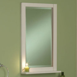 """18"""" Seaside Vanity Mirror - White - This is a simplified mirror with solid wood construction and a beveled glass edge. Designed to complement the Seaside Vanity, but has a universal look to be paired with almost any white vanity."""
